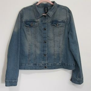 Faded Glory Blue Denim Jacket XL